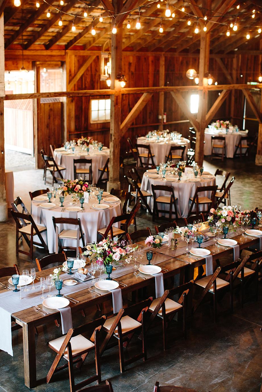 Wedding reception in a barn in Petaluma California