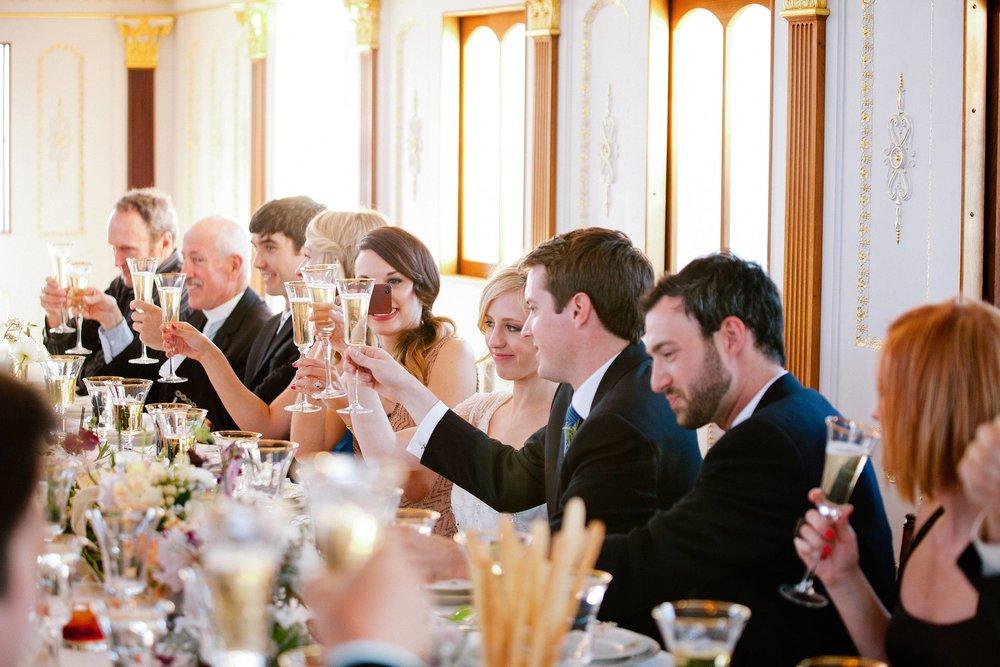 Parisian Jazz era wedding reception at China Cabin.