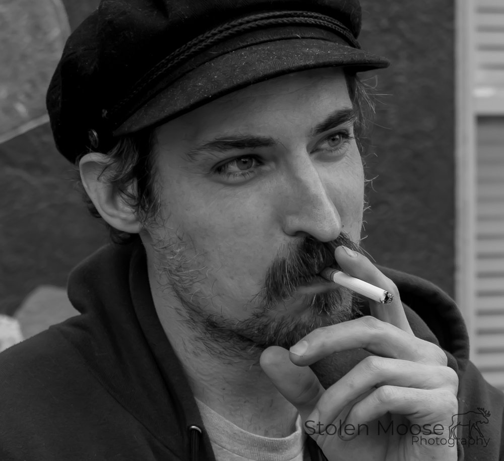 Smoking Man by Stolen Moose Photography