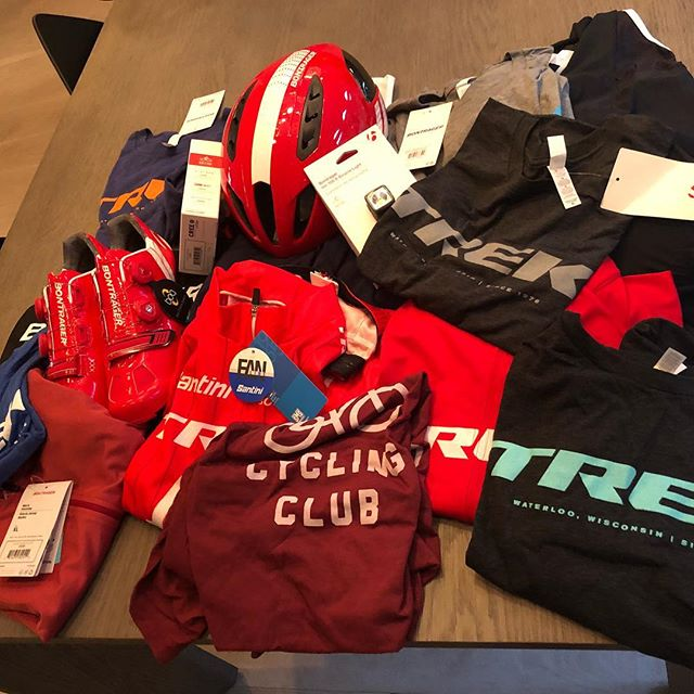 Thanks, @chdbrwn and all the innovators at @trekbikes and @bontragger for the swag. Keep up the great work. #betterwithbikes #cycling #cyclingapparel