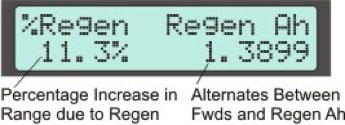 Display Screen #6 - Regenerative Braking
