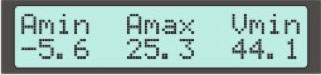 Display Screen #7 - Max and Mins