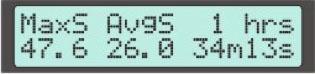 Display Screen #8 - Speed Stats