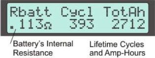 Display Screen #10 - Battery Stats