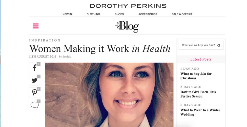 DOROTHY PERKINS: WOMEN MAKING IT WORK