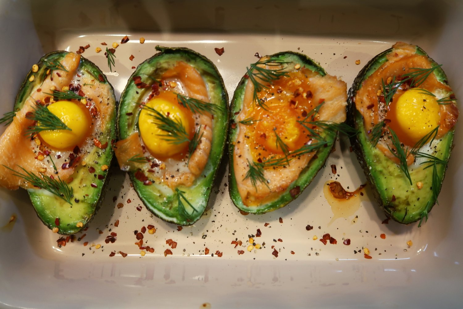 avocado salmon egg brunch recipe