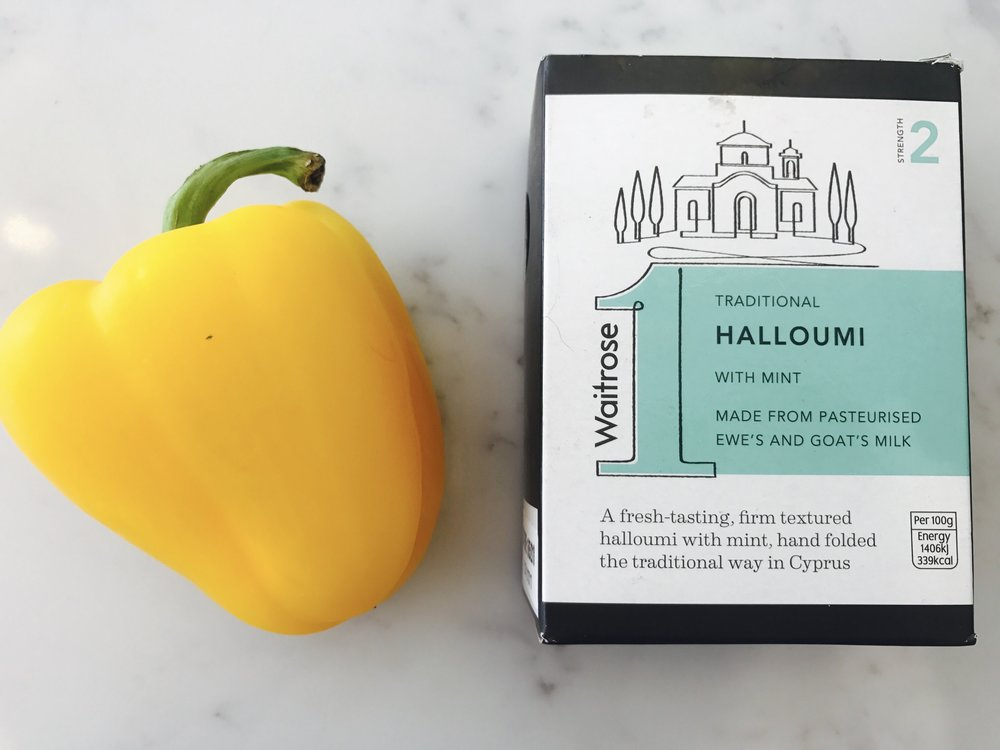 pepper halloumi ingredients