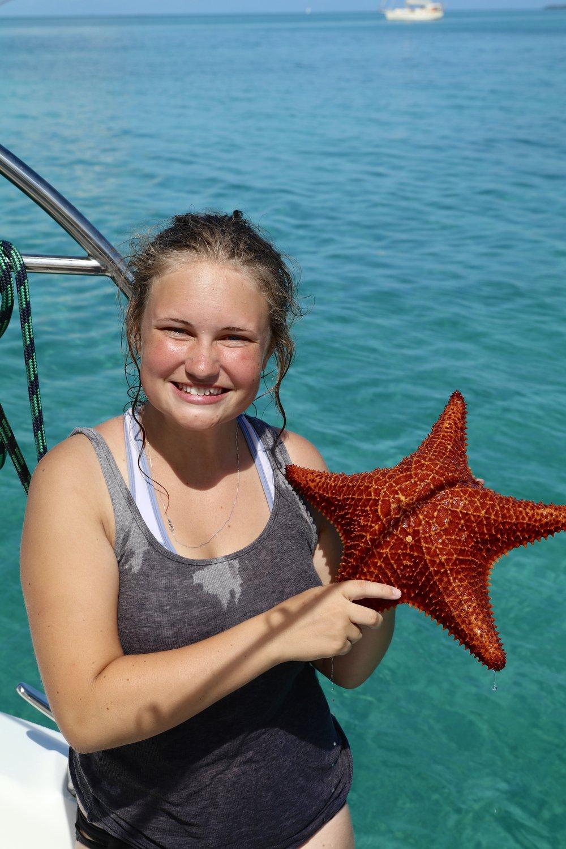 Snorkeling for seastars!