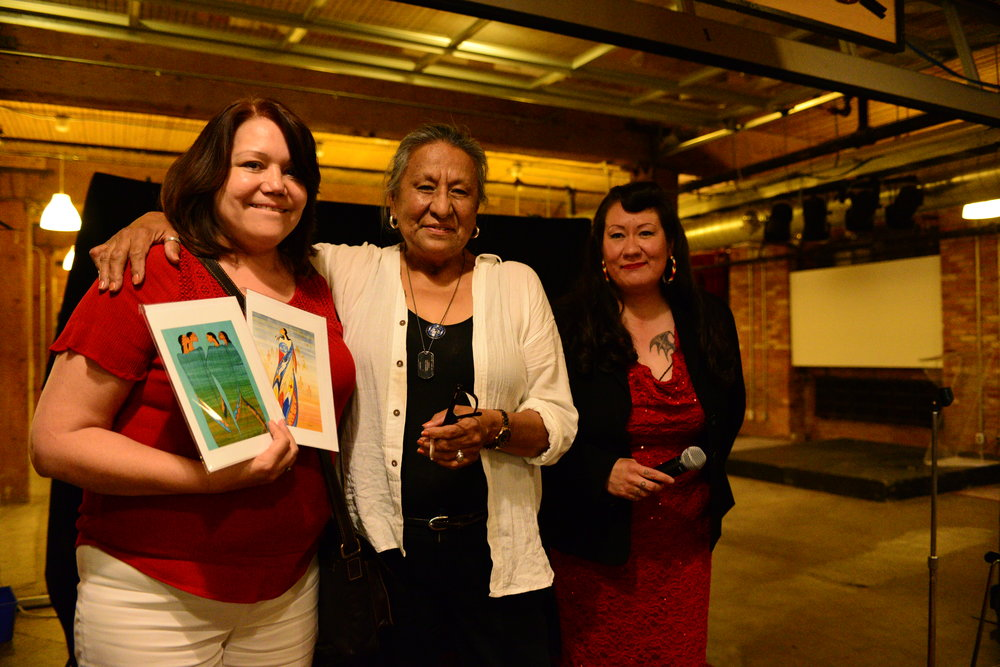 Deborah Graham, Vice-President, Maxine Noel and Jenny Blackbird