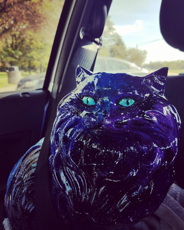 ROAD TRIP!!!   Heading to Cincinnati to deliver Galaxy Cat to the Cincinnati Art Museum Petcasso event.