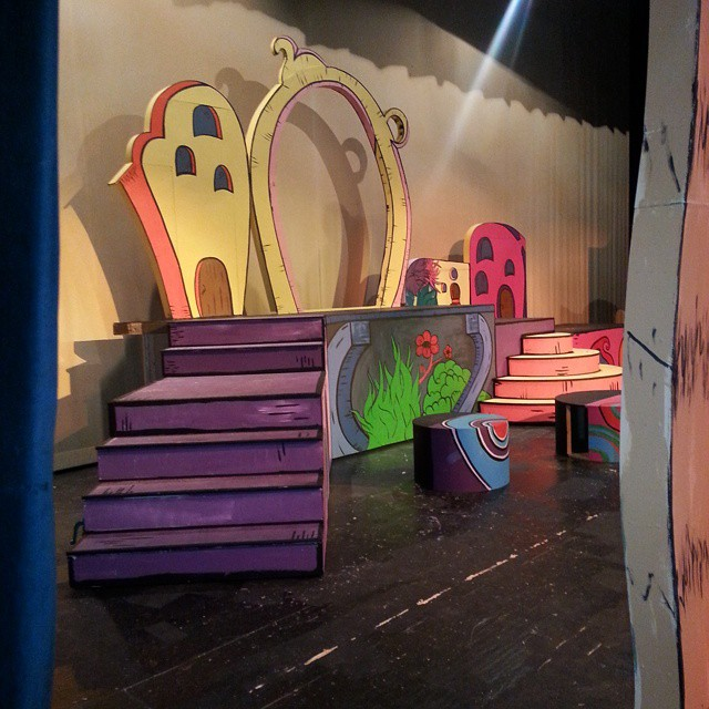 Set design and painting for Suessical the Musical - GREAT project!