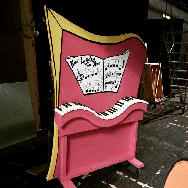Piano for The Cat in the Hat - Suessical the Musical. All wood ...and paint.
