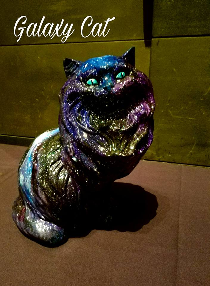 Galaxy Cat went up for auction and fetched a pretty penny for the animal shelter.
