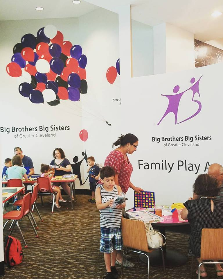 Big Brothers Big Sisters family play area design and mural
