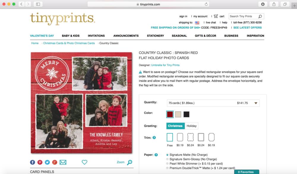 Tiny Prints Christmas Card — stephanie purvis