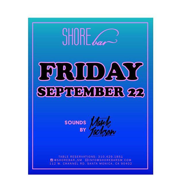 ⚓️ Friday Nites by the beach!? SHORE thing! @shorebar_sm ⛵️🌊