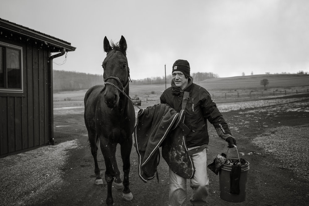 Day in the Life Photography | Race Horse Anwar Hanover & Frank Kamine | Campbell Kamine Photography-17.jpg