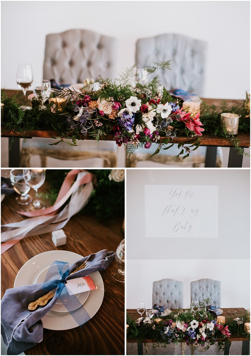 north vancouver intimate wedding decor pipe shop venue table for two place setting greenery diy wedding by stacie carr photography sweetheart table