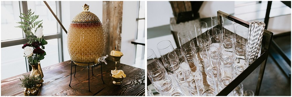 pineapple vintage juice bar sangria wedding decor diy bride pipe shop venue stacie carr photography
