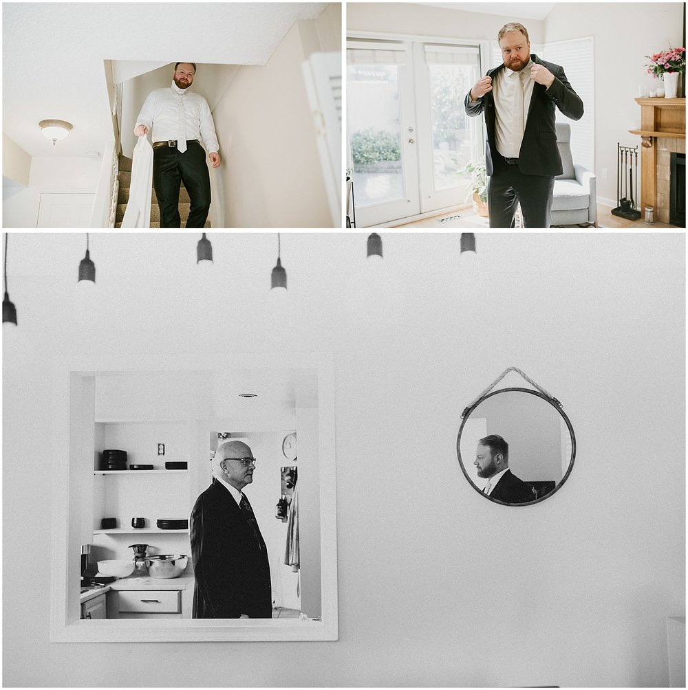 getting ready images north vancouver intimate wedding groomsmen style stacie carr photography