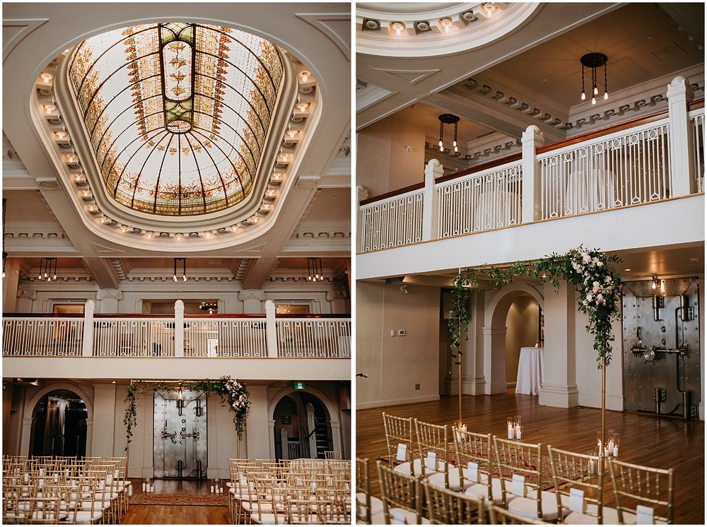 chiavari chairs intimate wedding ceremony downtown vancouver the permanent