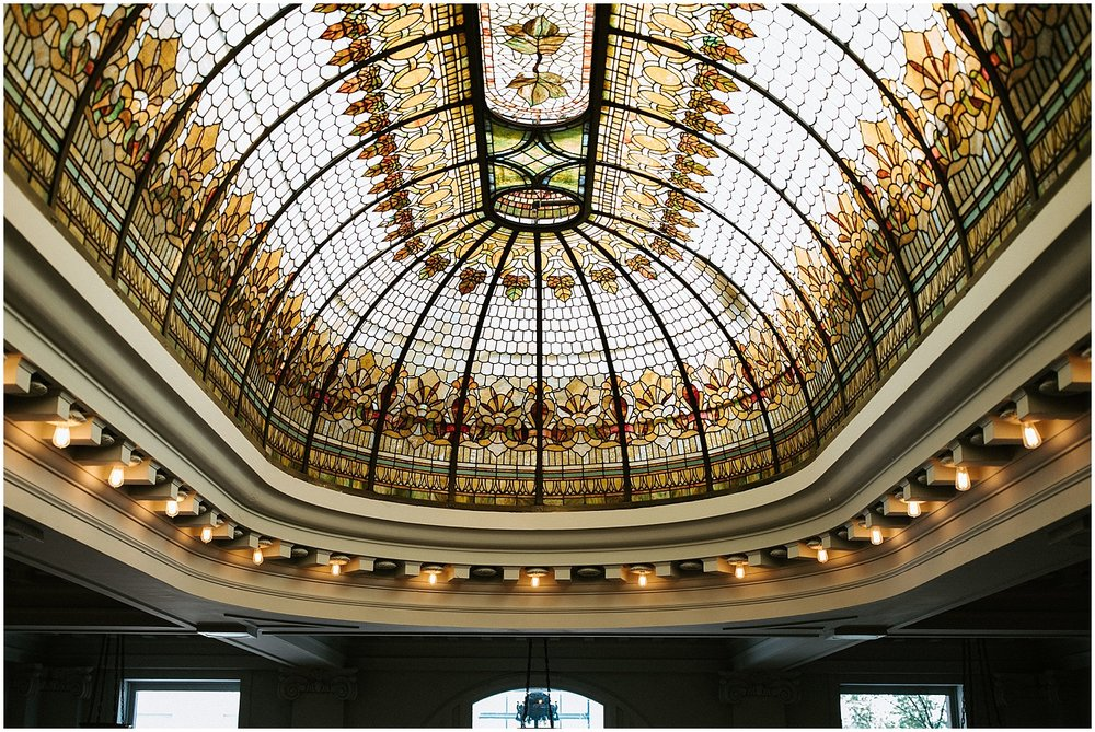 permanent wedding stained glass ceiling details wedding ceremony