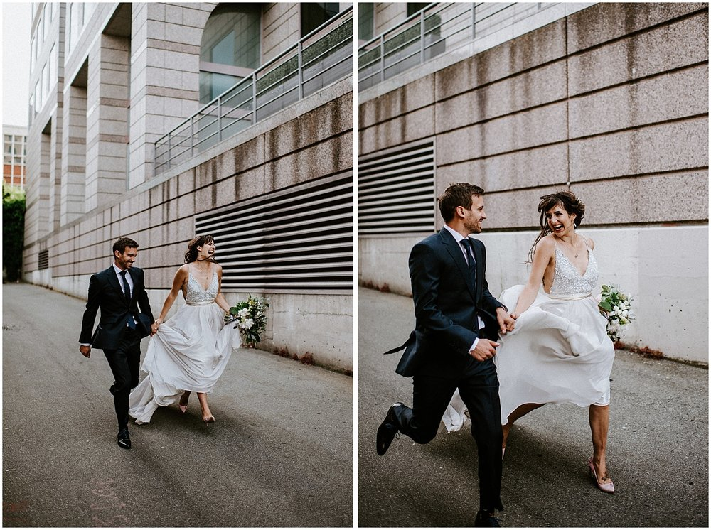 emotive wedding photos downtown vancouver the permenant downtown