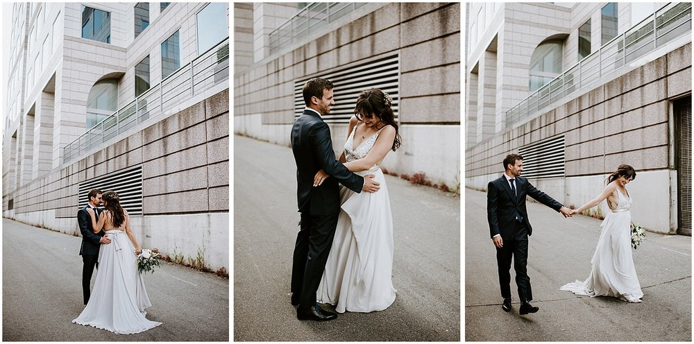intimate wedding couples photos downtown vancouver the permanent