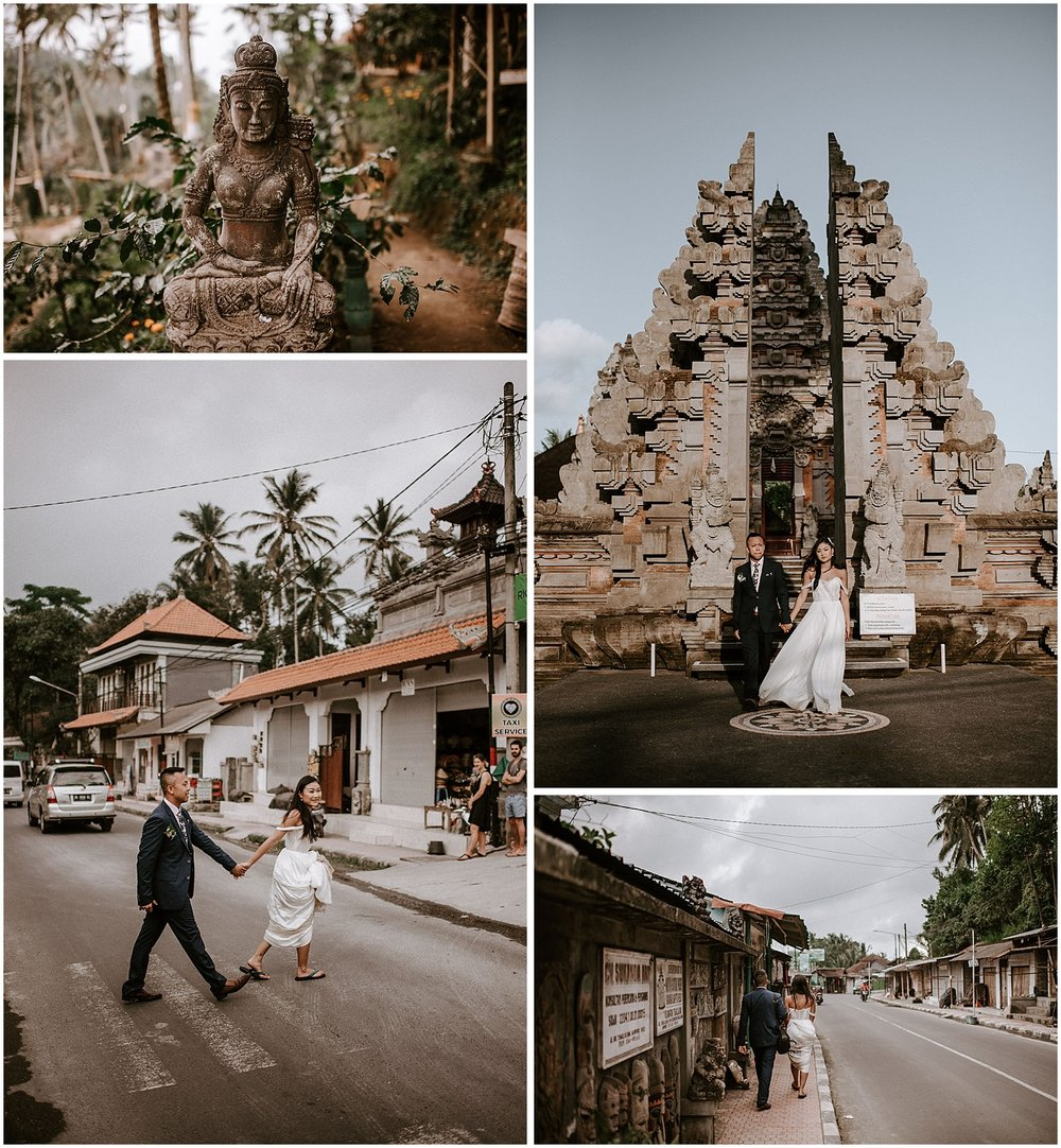 Canadian Destination wedding in ubud bali temple photography