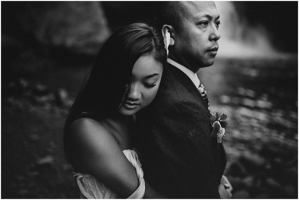 canadian wedding in ubud bali at tegenungan waterfall for elopement photos