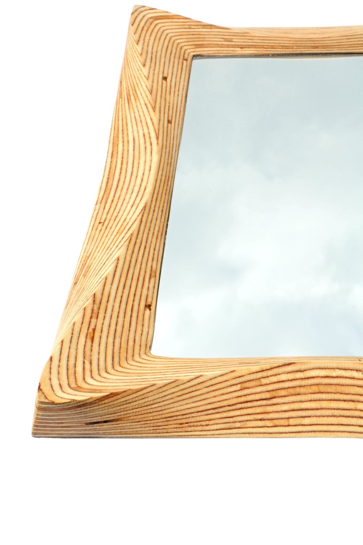 Natural wooden mirror