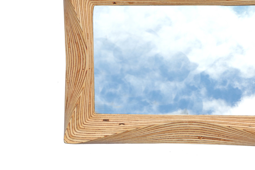 Funky wooden mirror