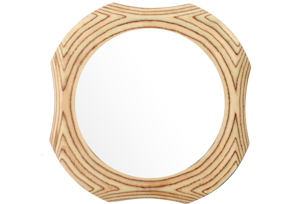 Contemporary funky round mirror