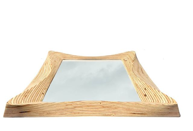 #surreywoodsmiths carved wooden mirror. Sleek and contemporary woodcraft from rolling hills of Surrey #contemporary #surreylifemagazine #surreyhills #socialmedia #branding #sales #entrepreneur #marketing #branding #business #love #photoofday #beautiful #like #smile #amazing #style #nature #pretty #cool #houseandgardenuk #johnlewis #idealhomeshow