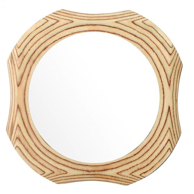 #surreywoodsmiths contemporary round solid wooden wall mirror. #mirror #photoofday #surreymatters #interiordesign #interiores #design #desire #surreylifemagazine