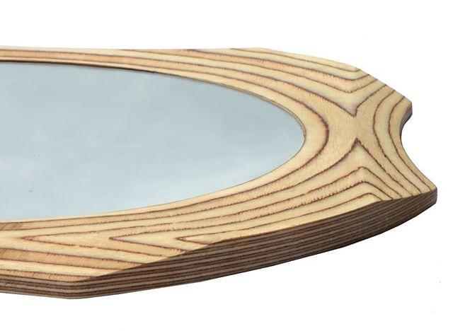 #surreywoodsmiths Funky circular mirror #etsyshop #handmade #wood #art #theguide2surrey #surreylifemagazine