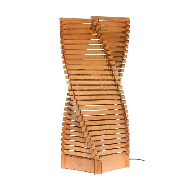 The LUNA wooden floor standing lamp by #SurreyWoodsmiths.  Made from 126 interlocking pieces of birch, walnut, mahogany or oak  #birch #wood #oak #walnut #mahogany #lighting #picoftheday #pic #designerfurniture #design #life #lifestyleblogger #lifestyle #lamps