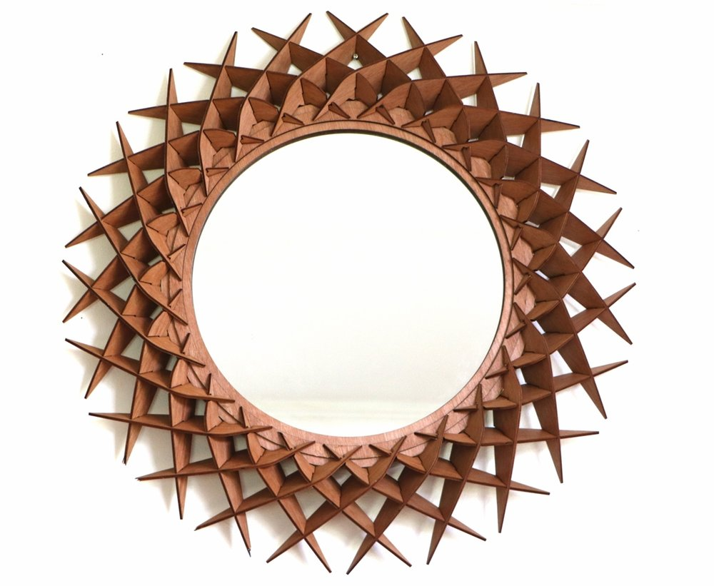 LIDA wall hanging mirror by SurreyWoodsmiths
