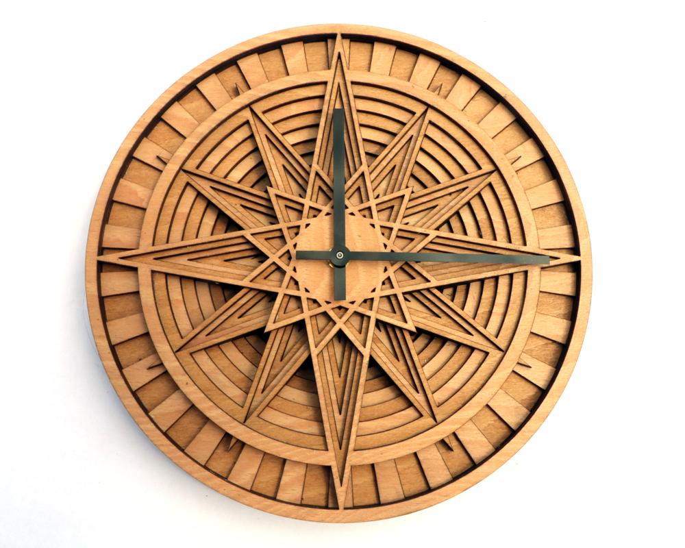KAIROS layered wooden wall clock