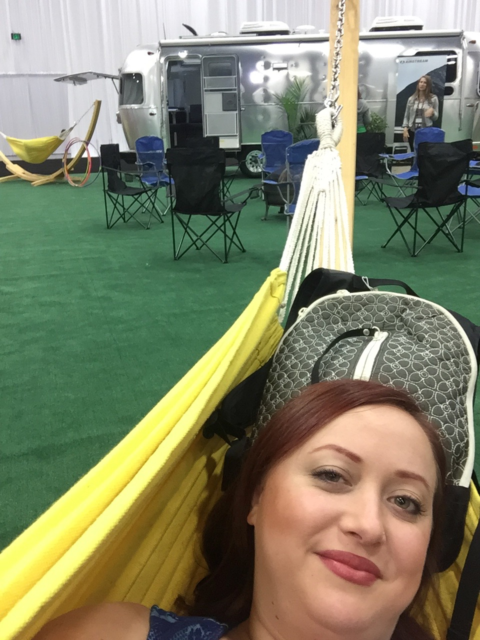 Designer In Hammock, by Airstream