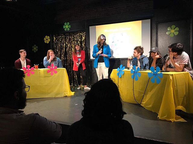 """Made my @ucbtla stage debut in """"Bad Dad: The Game Show."""" . . . Hey @marysasson - if you ever want another bad dad story to add to your collection, boy do I have a good one for you!"""