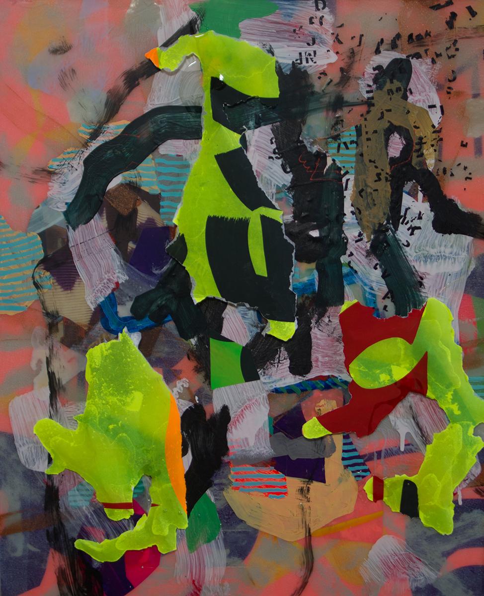 """Shrine (2015), mixed media, 22x27"""""""