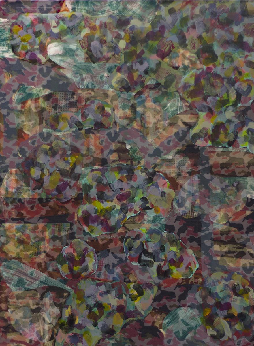 "Ganzfeld 3 (2015), mixed media, 31.5x23.5"""