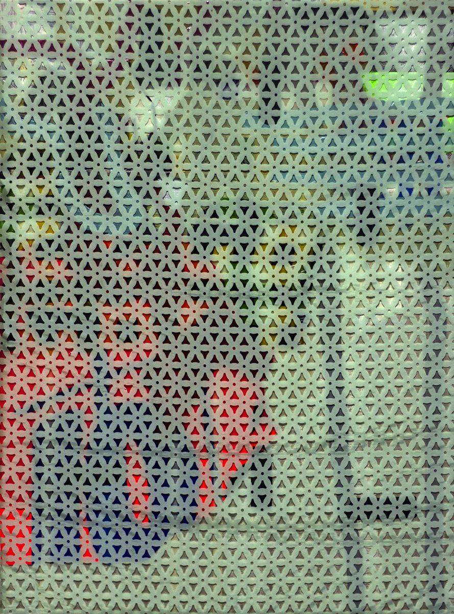 """Tired Eyes (2014), mixed media, 31.5x23.5"""", 2014"""