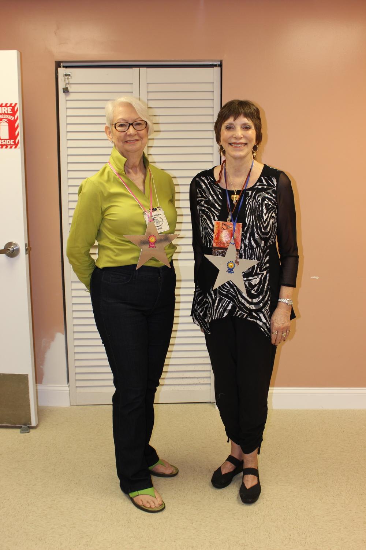 Lani Miller Marlys Cordes Librarian & Newsletter stars.JPG