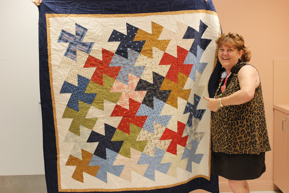 Tammie Clarke won the Orphan Block quilt.jpg