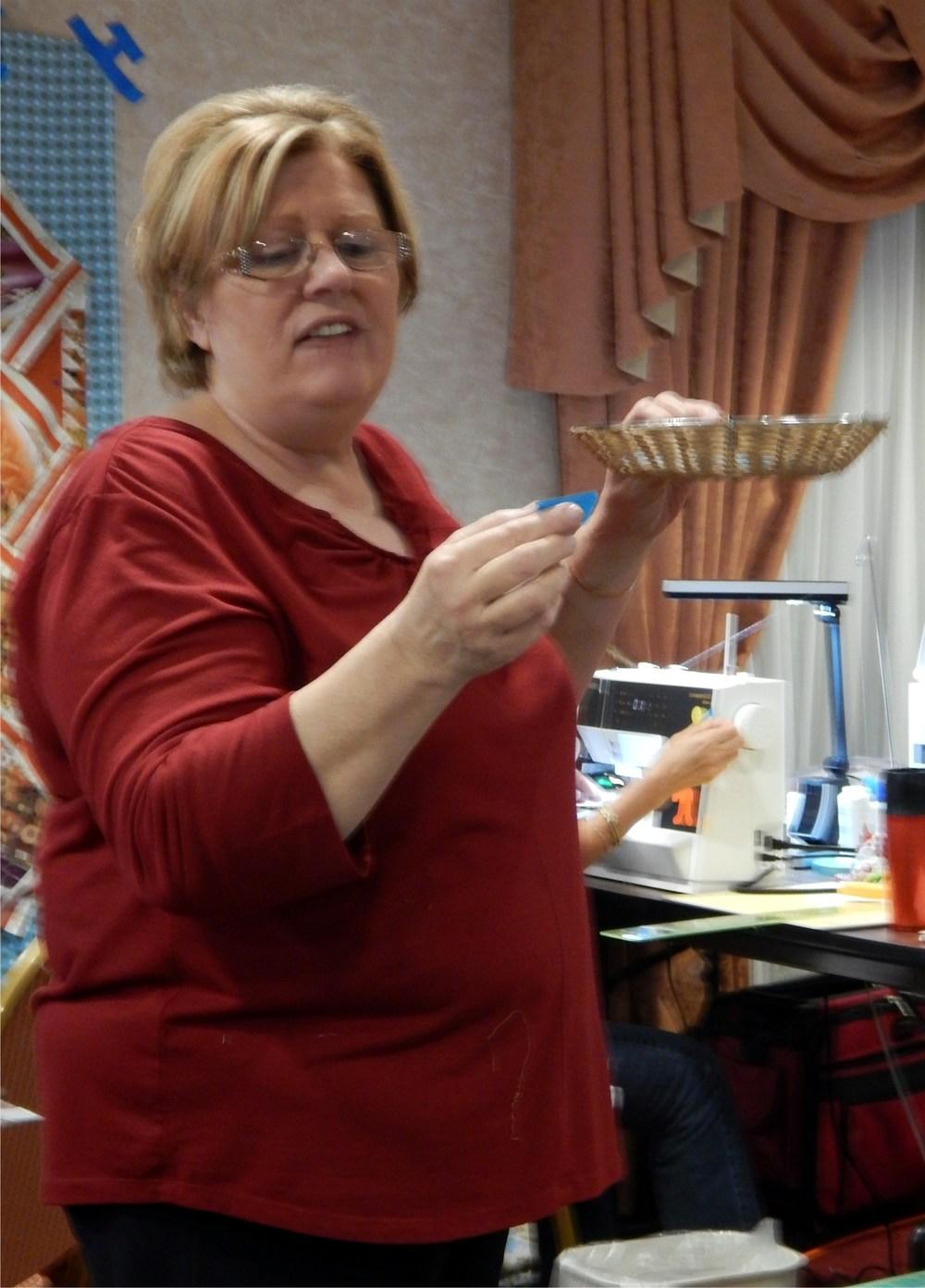 Julie drawing prizes.JPG