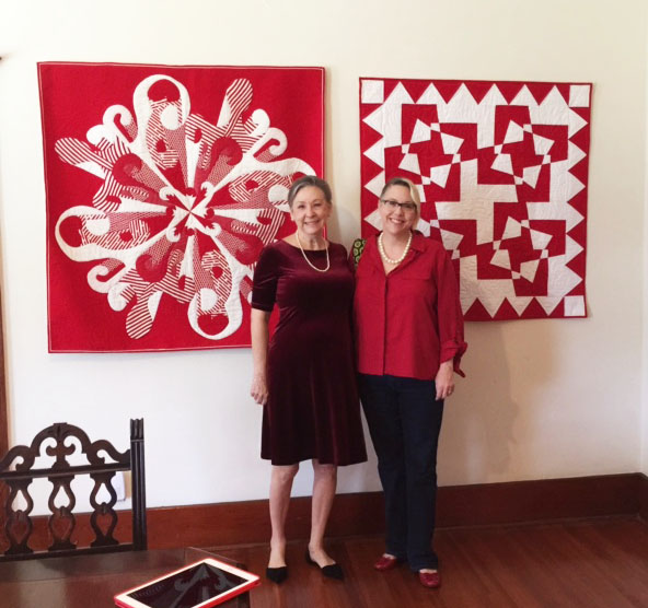 Christine Franko and Daughter in  Upstairs Gallery.jpg