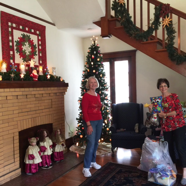 Louise and Raine in entrance  foyer.jpg