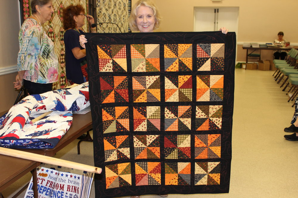 Kathy Johnson Sep Birthday quilt winner
